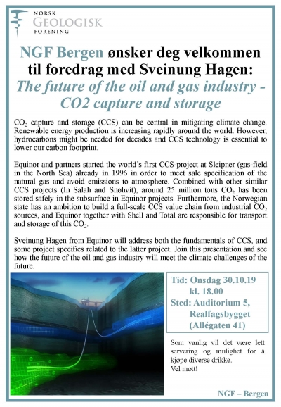 The future of the oil and gas industry - Bergen 30.10.19
